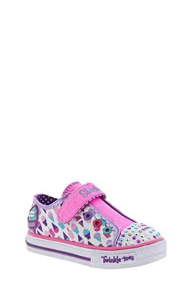 SKECHERS 'Twinkle Toes - Melt Aways' Light-Up Sneaker (Walker & Toddler) available at #Nordstrom
