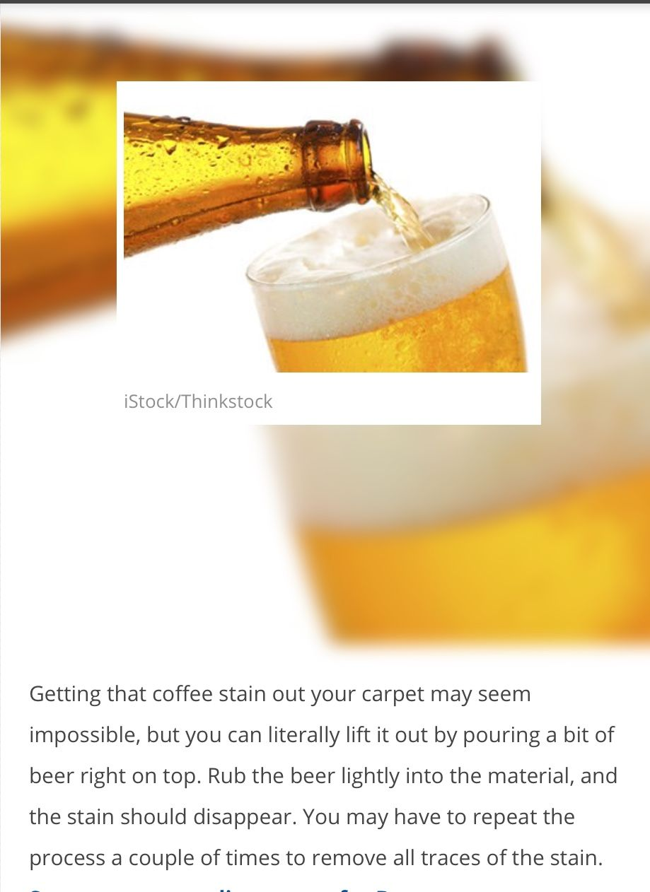 Carpet stain remove coffee with beer coffee stain