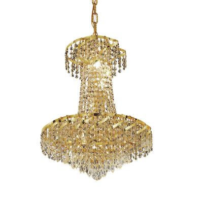 Wildon Home  Belenus 6 Light Chandelier with Crystal Finish: