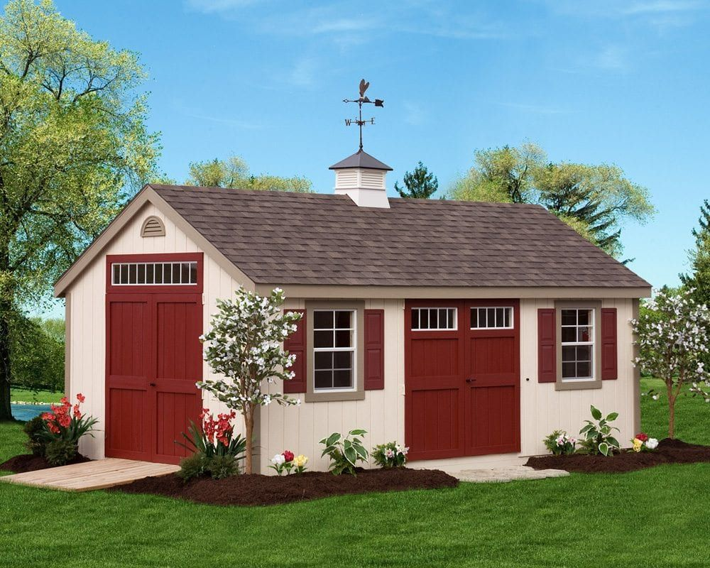 Deluxe Painted Cape Cod Storage Sheds Green Acres Amish Sheds Shed Sheds For Sale