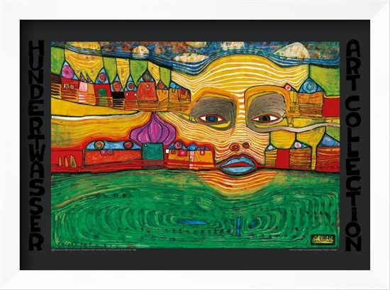 Irinaland Über Dem Balkan Art Print by Friedensreich Hundertwasser at Art.com