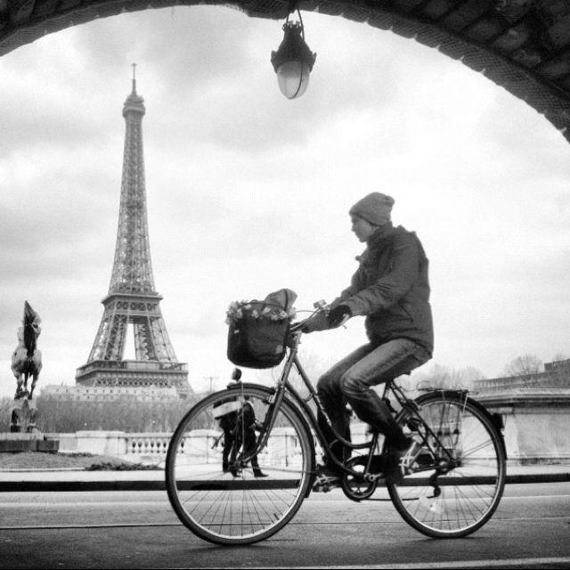Ballade à Paris en vélo.