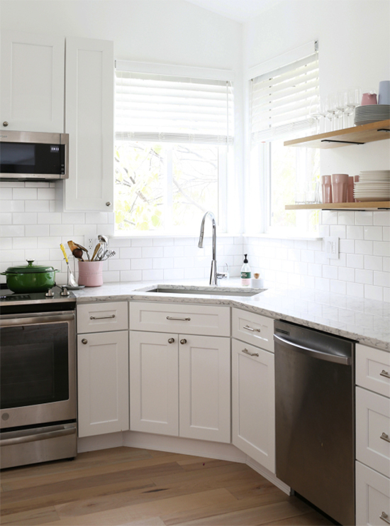 Corner Sinks What To Consider What We Chose At Home In Love Kitchen Remodel Small Corner Kitchen Layout Kitchen Remodel