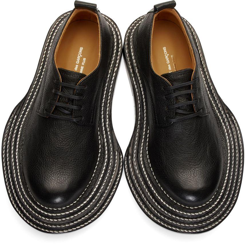 b731dbd1d6f3bf Comme des Garçons Homme Plus - Black Shrunken Leather Derbys