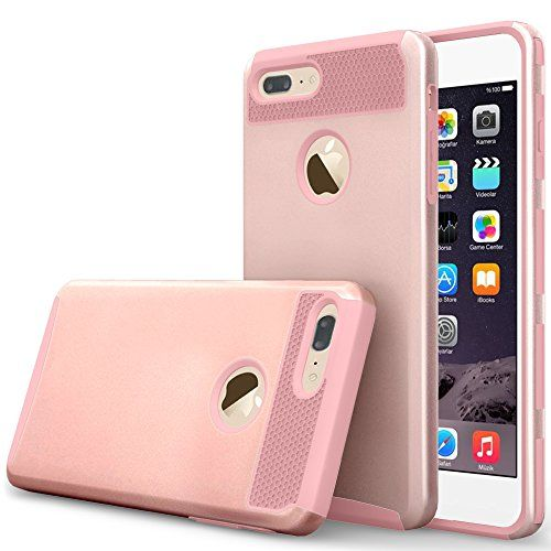 iphone 7 plus case, zoshiny 2 piece pc + tpu hybrid cover https