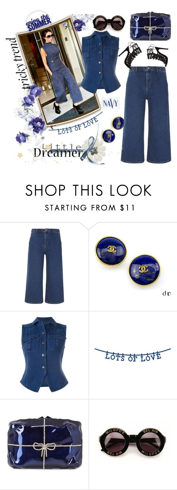 """""""Tricky Trend"""" by thedistinctiveme ❤ liked on Polyvore featuring Dorothy Perkins, Chanel, Romeo Gigli, COVERGIRL, Benedetta Bruzziches, Wildfox, TrickyTrend and culottes"""