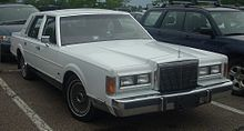 Lincoln Town Car Wikipedia Motorized Road Vehicles In The Usa