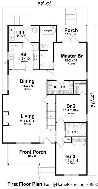Bungalow Floor Plans Bungalow Style Homes Arts And Crafts Bungalows Narrow Lot House Plans Bungalow Floor Plans Traditional House Plans