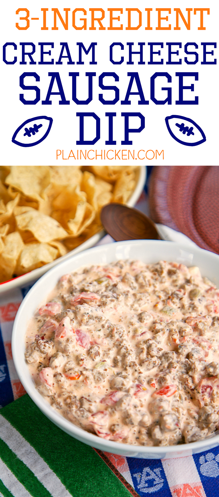 3 Ingredient Cream Cheese Sausage Dip Soooo Good Sausage Cream Cheese And Rotel Ready In Under 10 Minutes Sausage Dip Food Snacks