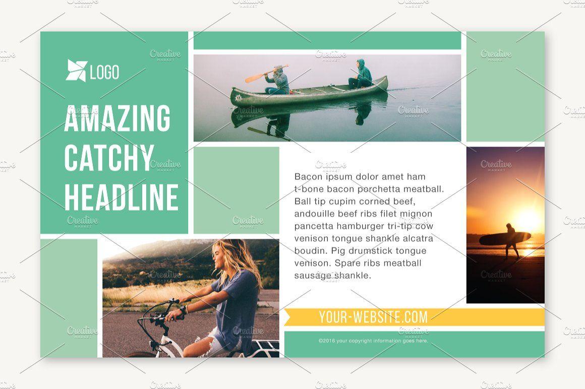 Four Half Page Flyer Templates Organized Customized Illustrator