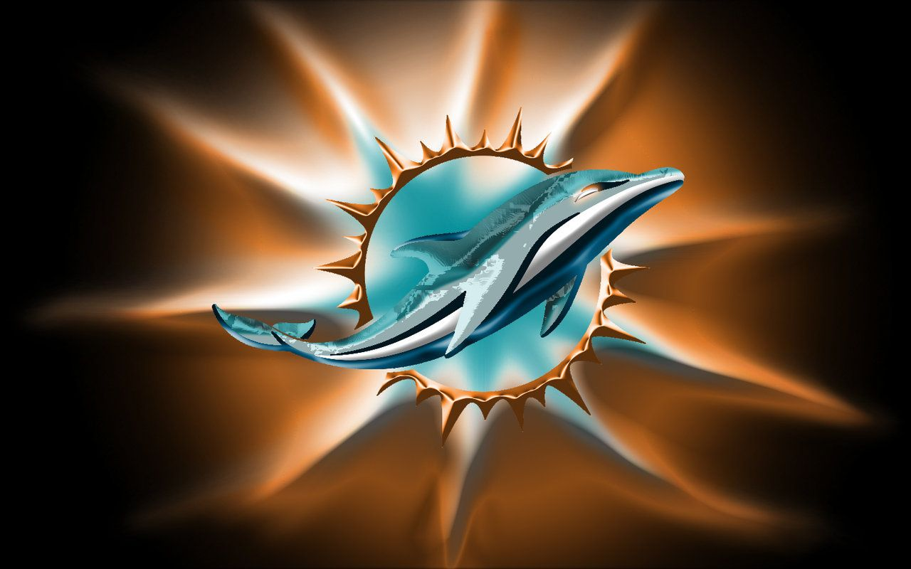 Miami Dolphins New Logo Wallpaper Miami Dolphins New Logo By