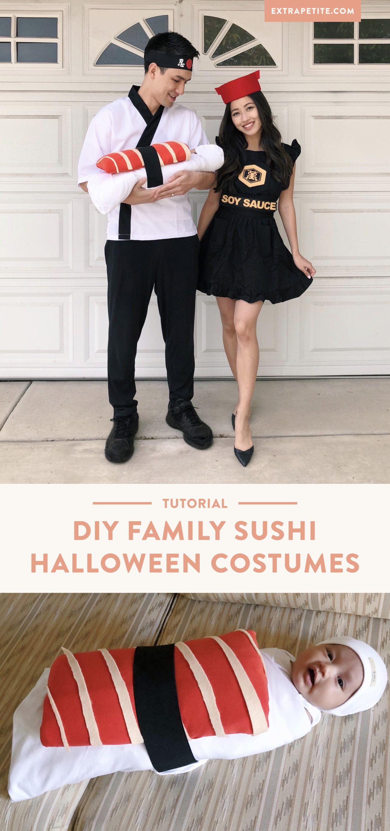 Diy tutorial sushi family halloween costume extra