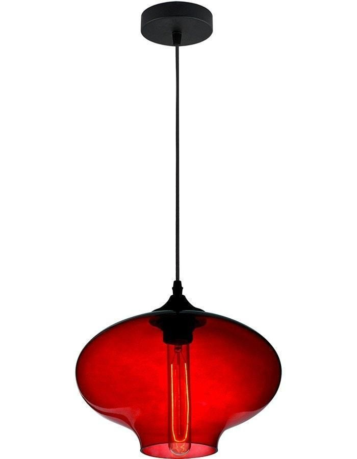 Aria Red Glass Pendant Light With Images Glass Pendant Light