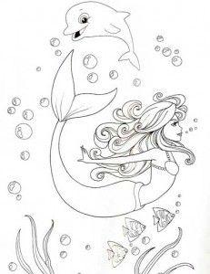 Desenhos Sereia Imprimir Colorir 1 Drawings Sketches Female