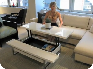 Versatile furniture for small spaces.