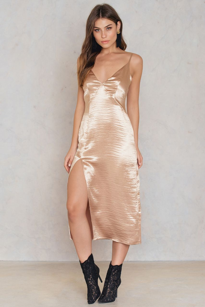 Mirabella Slip Dress - Gold | Kardashian, Gold and Shopping