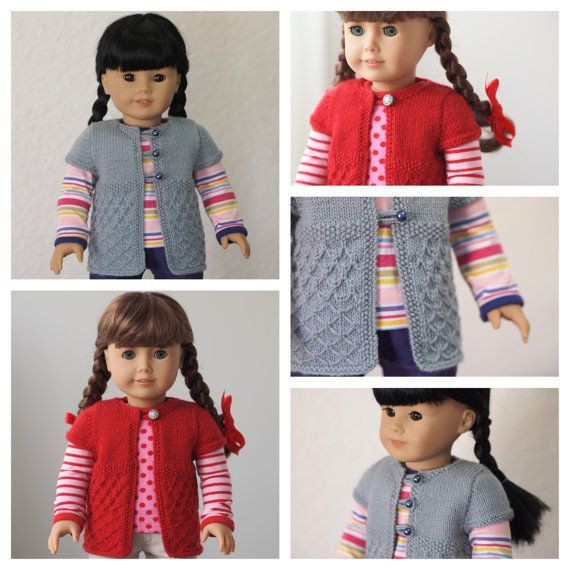 Butterfly Short Sleeve Cardigan for 18 Inch American Girl Dolls ...