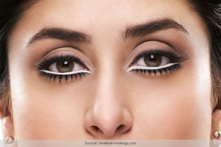 How To Apply White Kajal White Kajal No Eyeliner Makeup Kajal