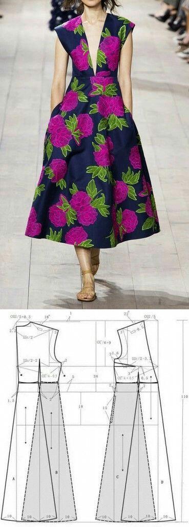 Michael Kors dress pattern | Patrones muñecos, cojines, peluches ...
