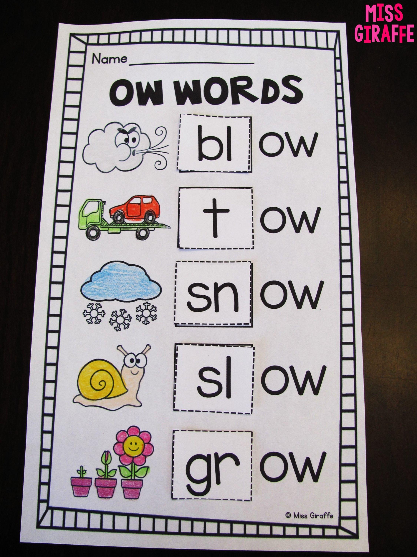 worksheet Ow Worksheets oa ow worksheets activities no prep prep
