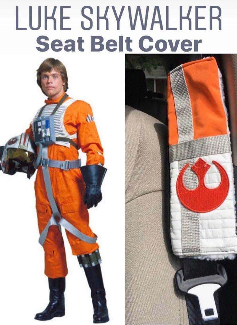 Luke Skywalker X Wing Pilot Inspired Seat Belt Cover Etsy Seat Belt Cover Star Wars Luke Star Wars Luke Skywalker