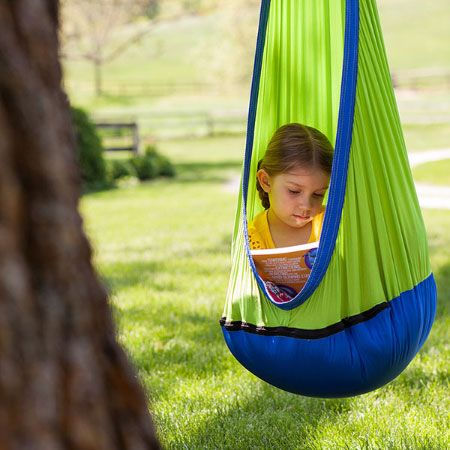 masite Home Child Hammock Chair Kids Swing Pod Outdoor Indoor Hanging Seat Hammocks