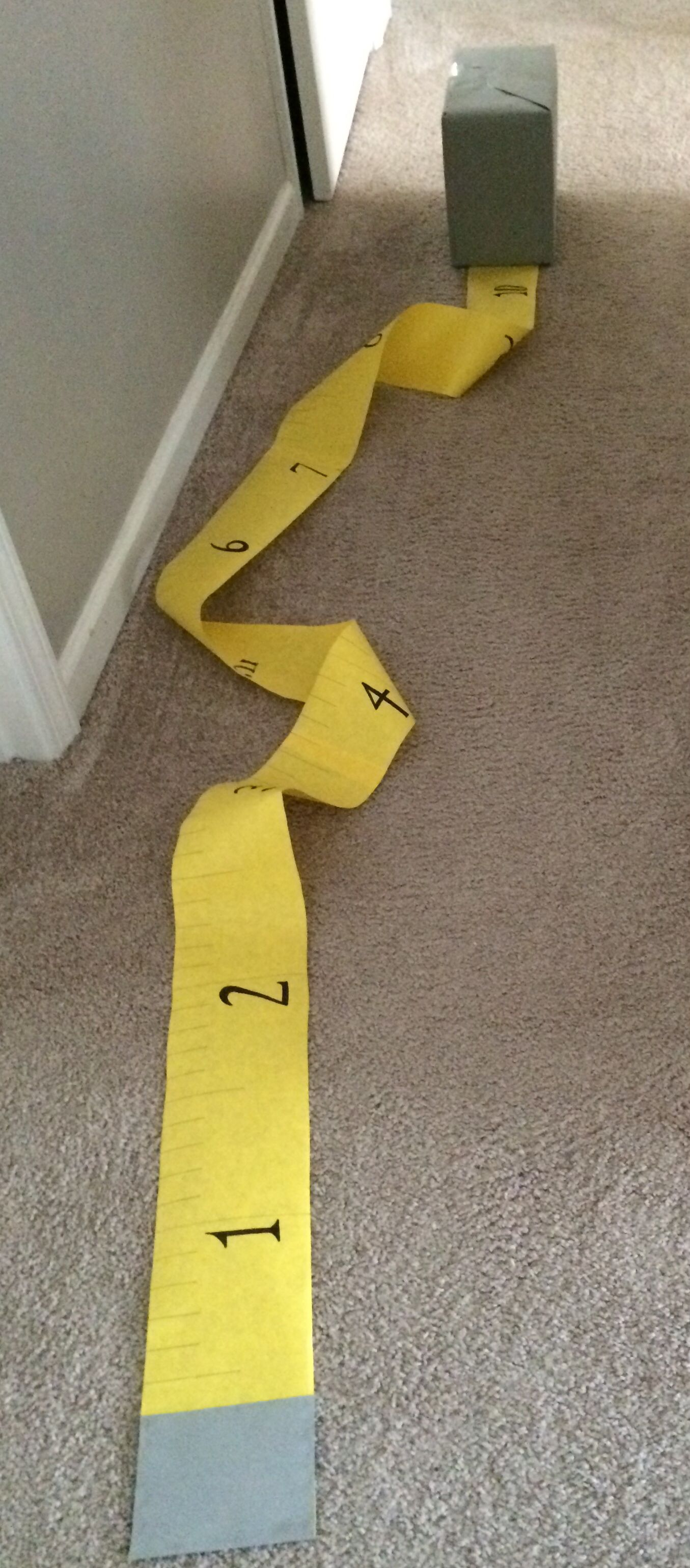 Oversized tape measure for VBS