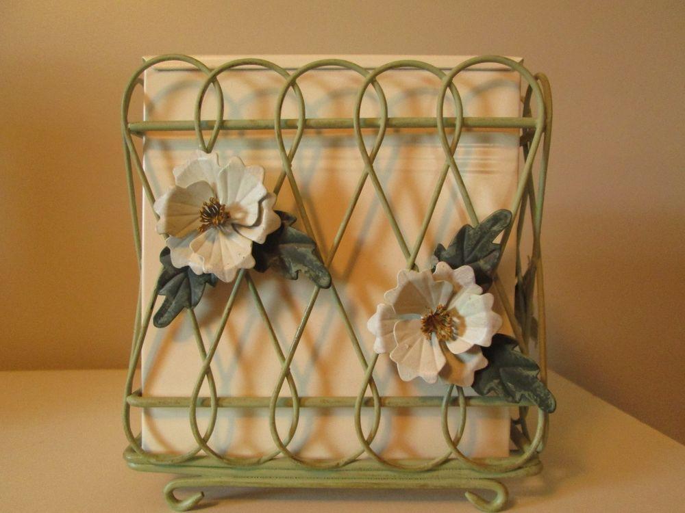 New Waverly Garden RARE Carolina Garden Magnolia Metal Kleenex Tissue Box Cover