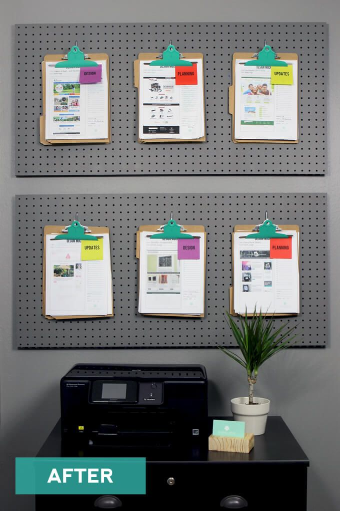 Office Pegboard Organization HomeOffice Home office