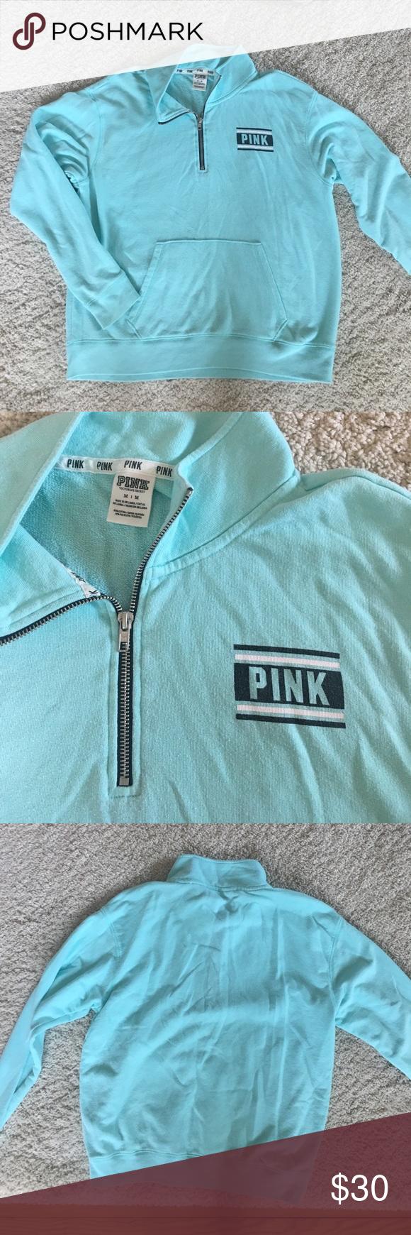 Victoria secret PINK blue quarter zip | Pink blue, Vs pink and Pink
