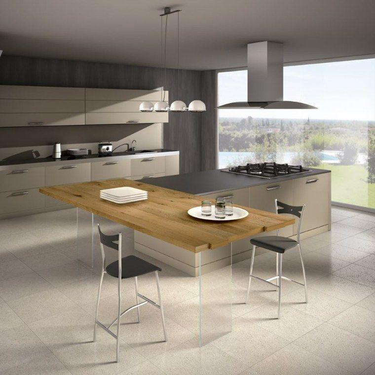 Pourquoi choisir une cuisine avec plan de travail bois Ideas para - Table De Cuisine Avec Plan De Travail
