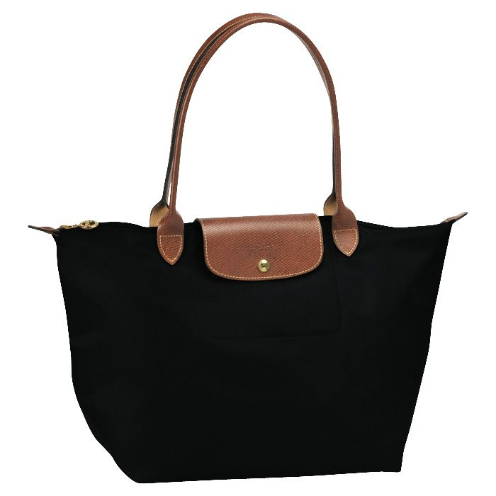 Foldable W Brown Leather Handle Brown Nylon Tote   Longchamp   Pinterest    Longchamp, Nylon tote and Leather handle 5eeb61a431