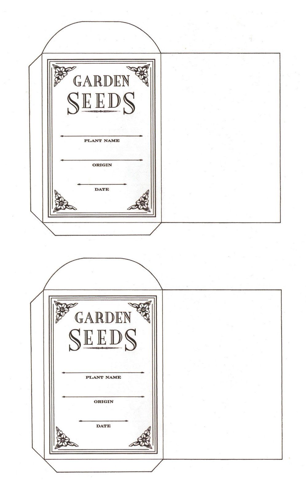 Flowers And A Seed Packet Pattern