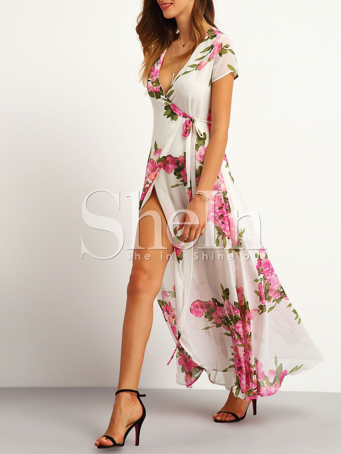 Vestido flores maxi blanco vestidos clothes and floral