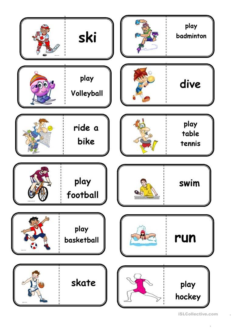 sport domino worksheet - Free ESL printable worksheets made by teachers