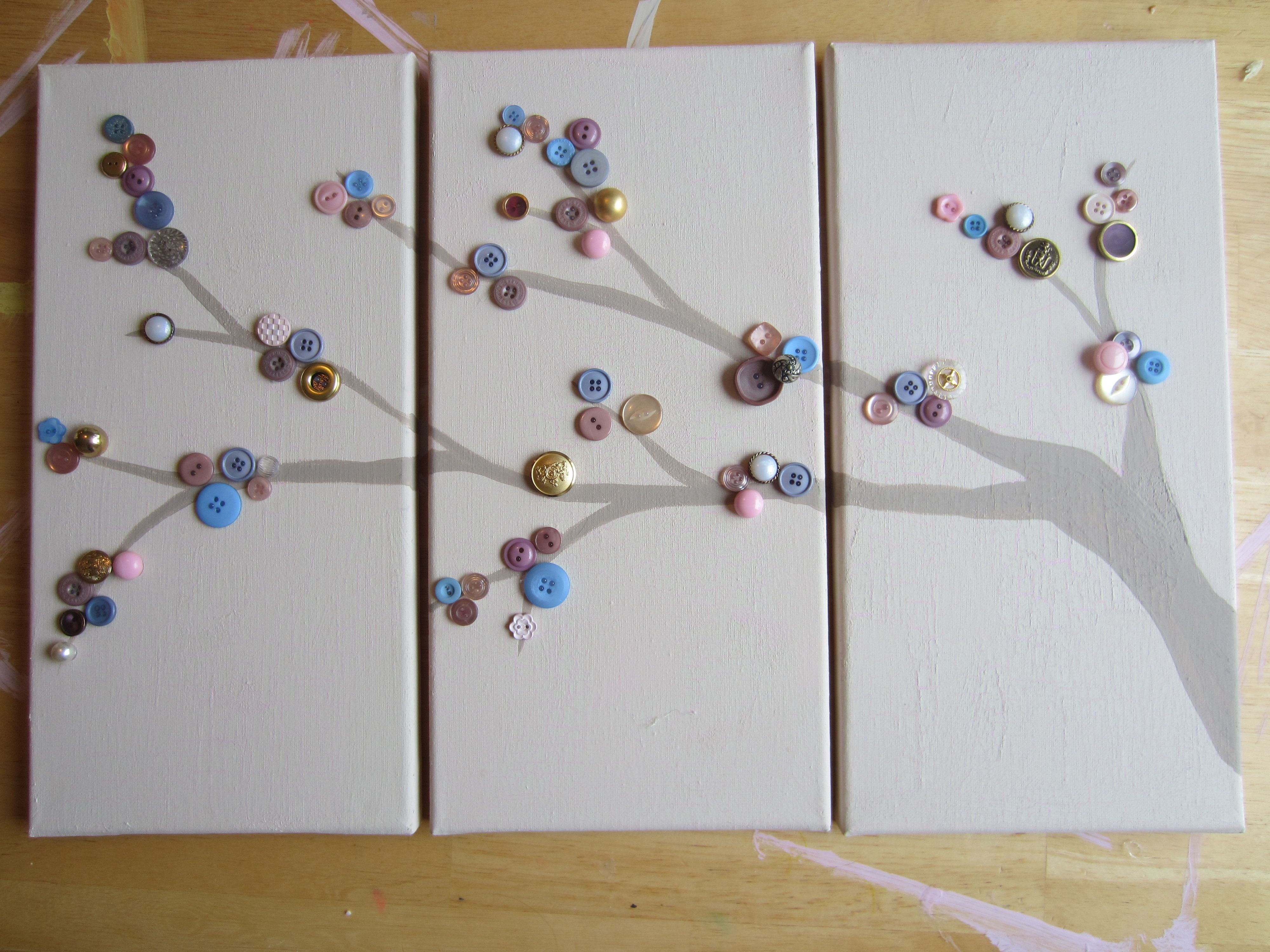 Img crafts pinterest button tree button art and craft