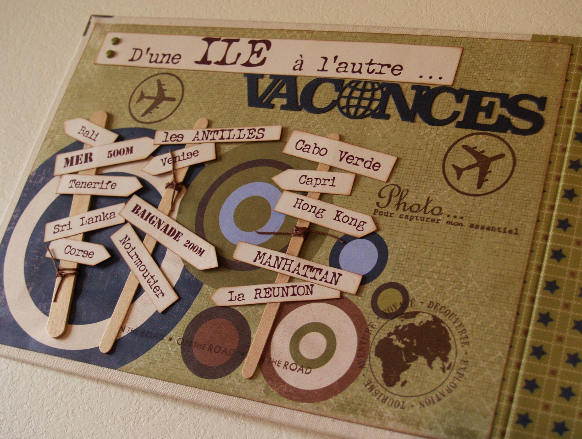 Hervorragend Album « d'une île à l'autre » | Scrap, Scrapbooking and Album QD94