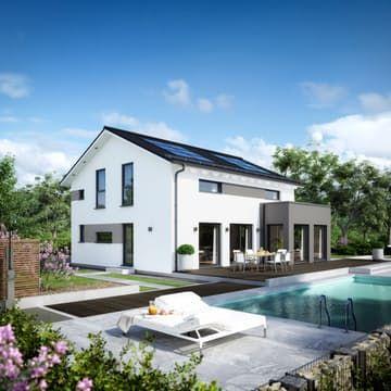 sunshine 165 von living haus by bien zenker klassiker satteldach grundriss haus living. Black Bedroom Furniture Sets. Home Design Ideas