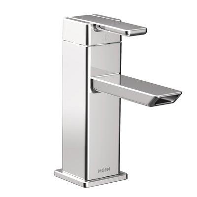 moen 90 degree single hole low arc bathroom faucet with drain in rh pinterest com