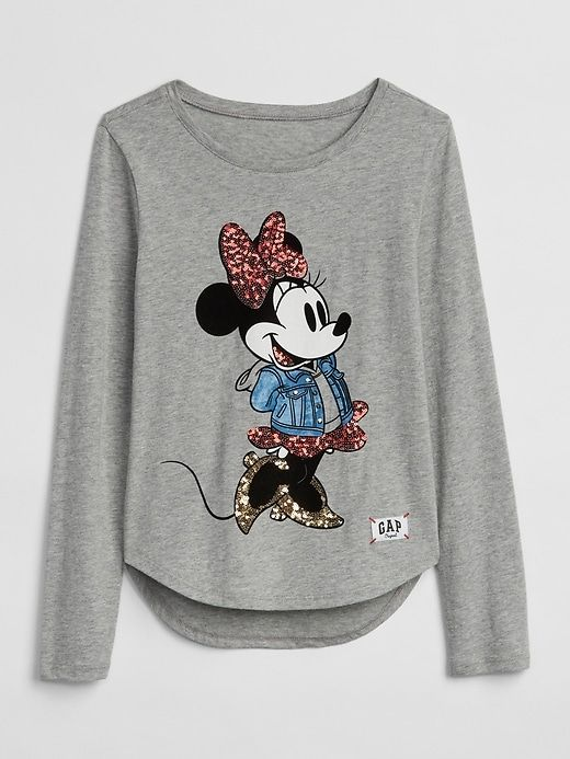 788f1edb9eb08 Gap Girls Gapkids | Disney Mickey Mouse And Minnie Mouse T-Shirt Grey  Heather
