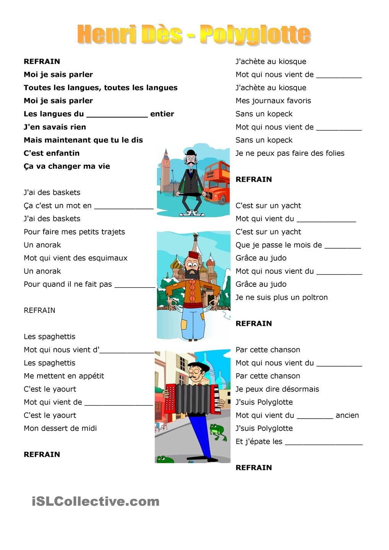 chanson polyglotte