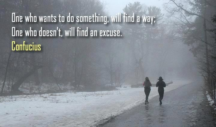 No excuses...