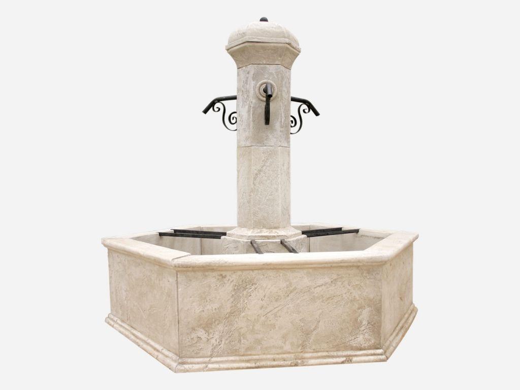 Fontaine centrale de jardin Seville de Roc de France | Fontaine de ...