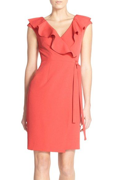 Adrianna Papell Crepe Wrap Dress | Nordstrom | Wrap dress ...