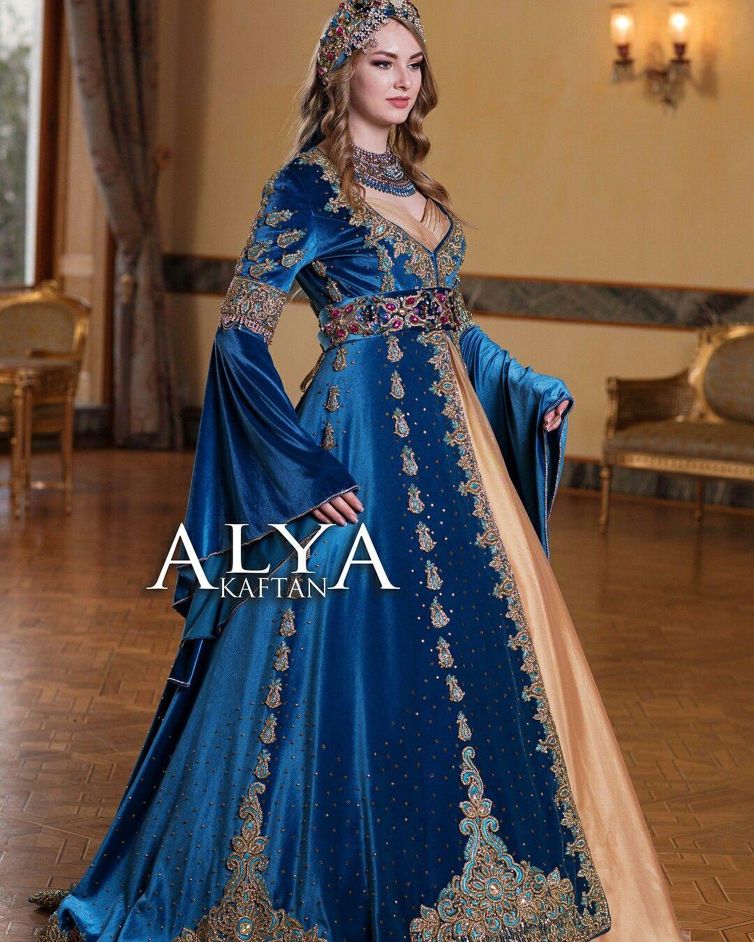 Pin By Betul Bakac On En Guzel Kaftan Modelleri Fantasy Gowns Gowns Moroccan Fashion
