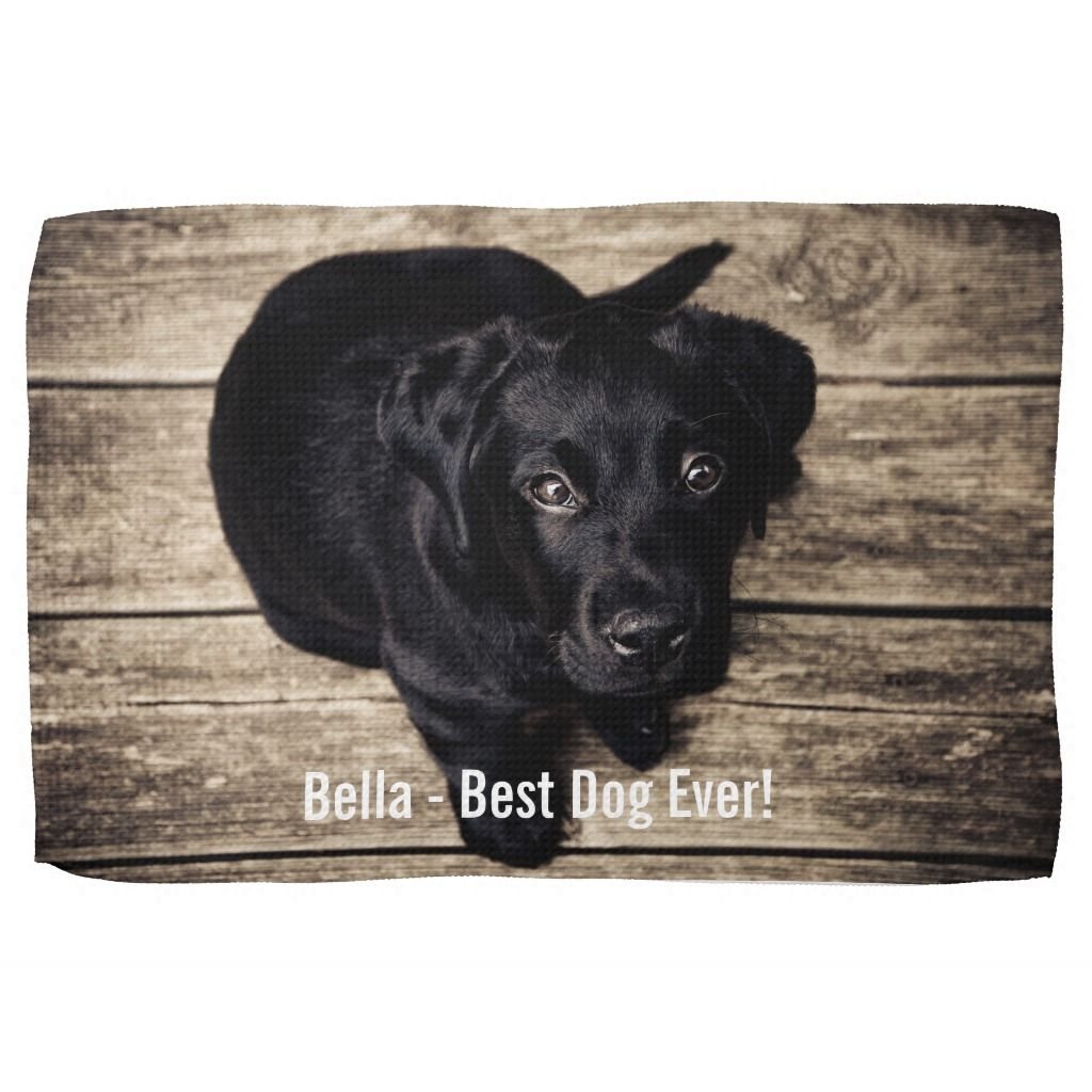 Personalized Black Lab Dog Photo And Dog Name Towel Personalized Black Lab Dog Photo and Dog Name Towel Black Things black color dog names
