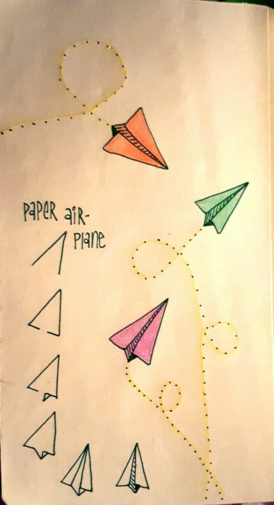 Paper airplanes are fun to draw art journal pinterest for Fun things to draw