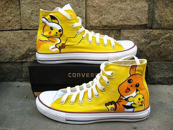 Pokemon Custom Converse Sneakers Hand Painted 100 Hand Painted