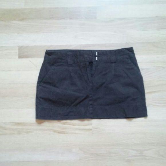 Mini Skirt Brown mini skirt with striped. Skirts Mini