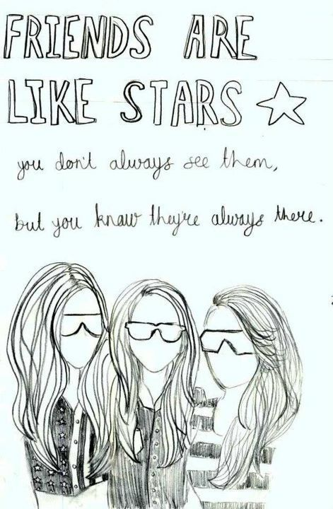 Friends Are Like Stars With Images Drawings Of Friends Best